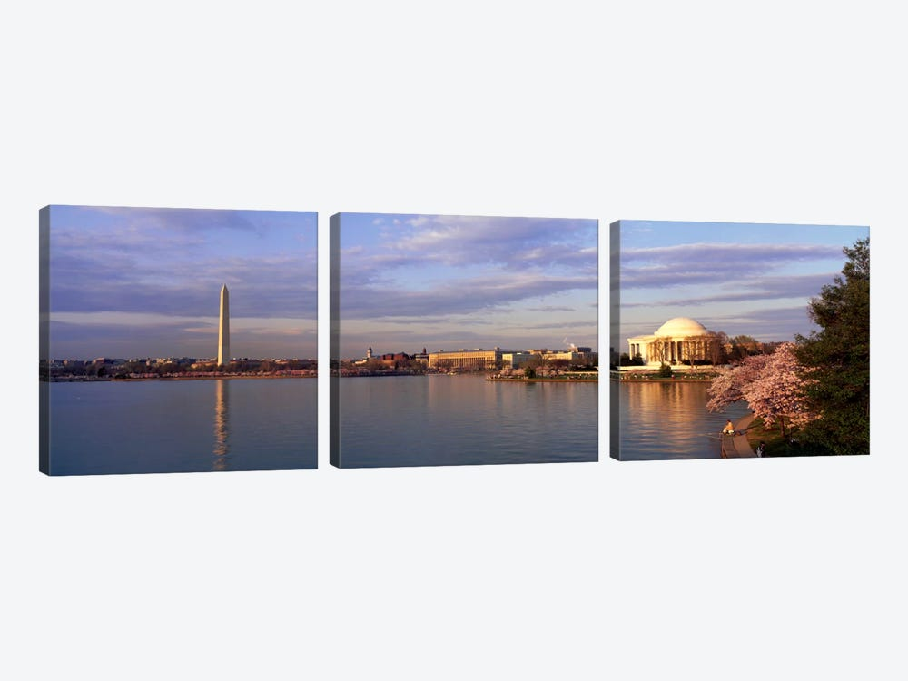 USA, Washington DC, Tidal Basin, spring by Panoramic Images 3-piece Canvas Artwork