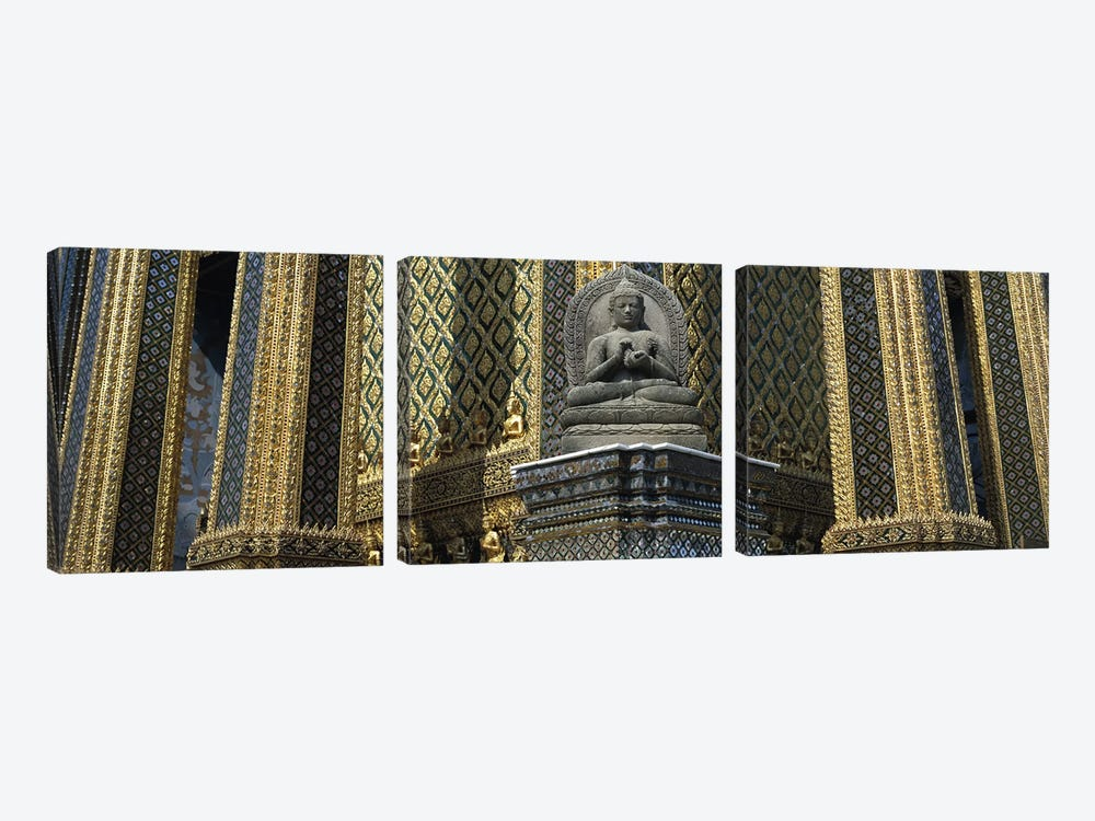 Emerald Buddha, Wat Phra Keo, Bangkok, Thailand 3-piece Canvas Artwork