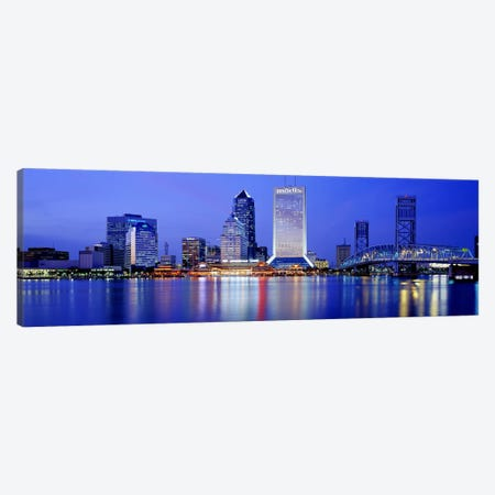 Night, Jacksonville, Florida, USA Canvas Print #PIM2901} by Panoramic Images Canvas Art