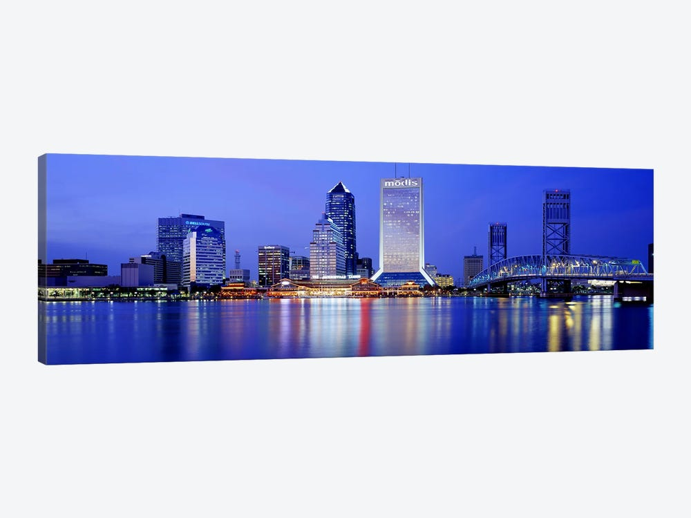 Night, Jacksonville, Florida, USA 1-piece Canvas Print