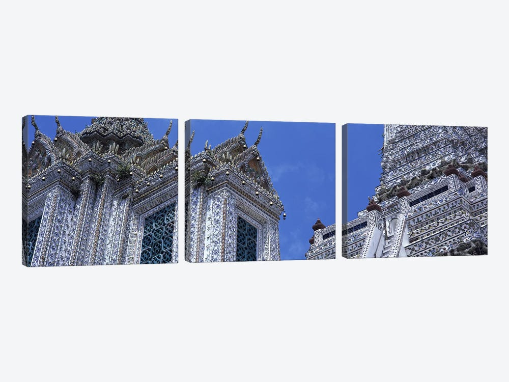 Detail Wat Arun Bangkok Thailand by Panoramic Images 3-piece Canvas Wall Art