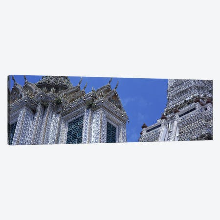 Detail Wat Arun Bangkok Thailand 3-Piece Canvas #PIM2902} by Panoramic Images Canvas Wall Art
