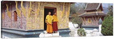 Monks Wat Xien Thong Luang Prabang Laos Canvas Print #PIM2904