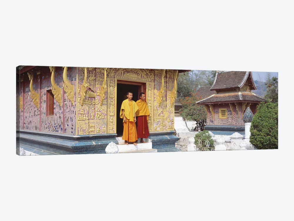 Monks Wat Xien Thong Luang Prabang Laos by Panoramic Images 1-piece Canvas Art