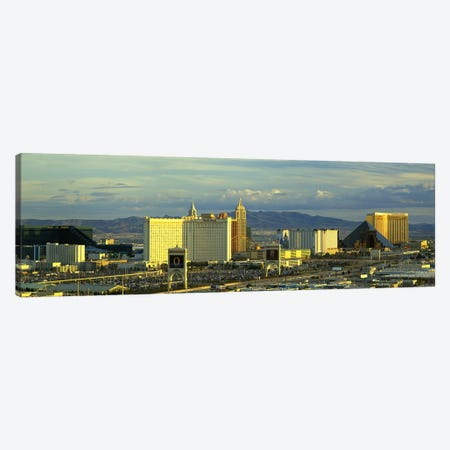 Afternoon The Strip Las Vegas NV USA Canvas Print #PIM2907} by Panoramic Images Art Print