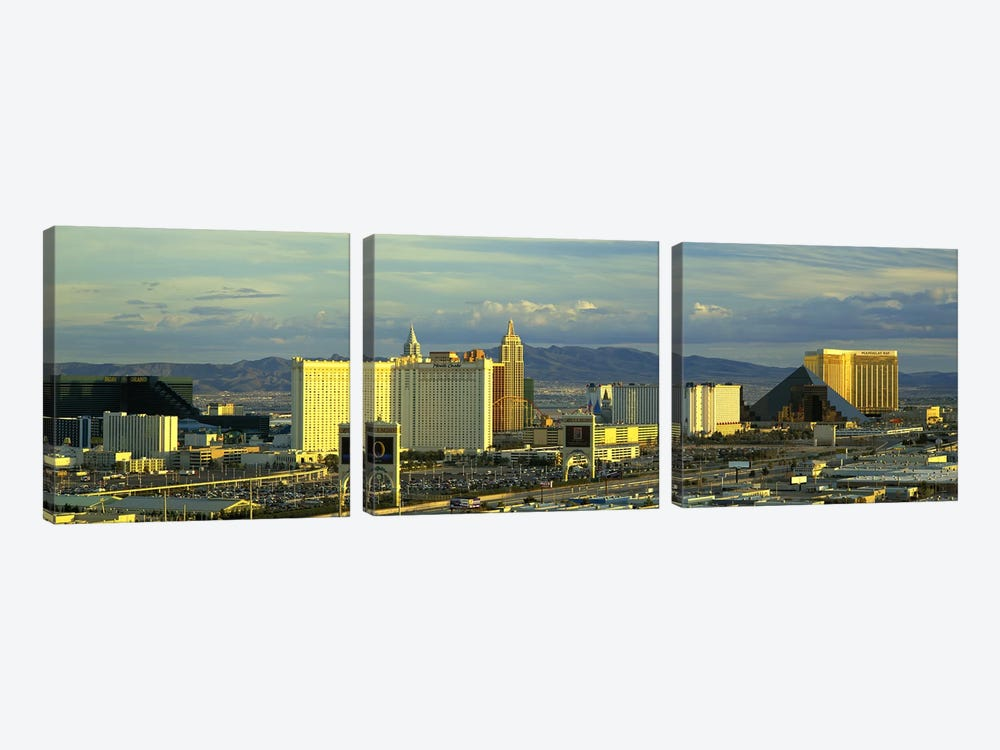 Afternoon The Strip Las Vegas NV USA by Panoramic Images 3-piece Canvas Print