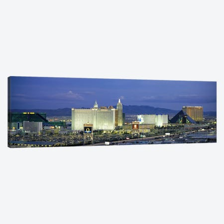 Dusk The Strip Las Vegas NV Canvas Print #PIM2908} by Panoramic Images Canvas Artwork