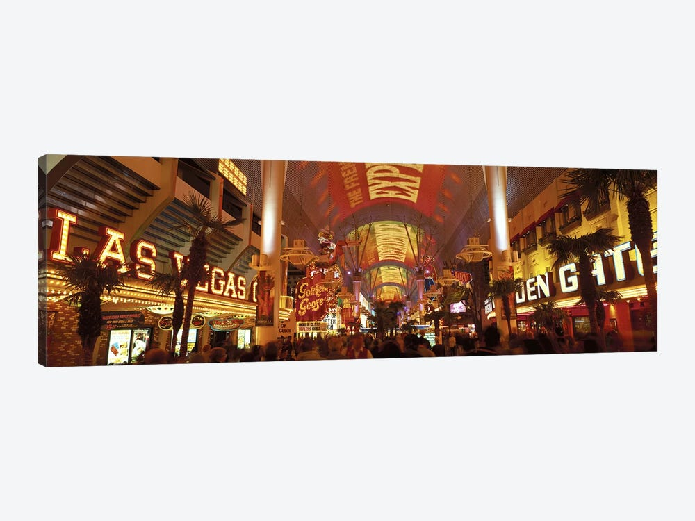 Fremont Street Experience Las Vegas NV USA #3 by Panoramic Images 1-piece Canvas Print