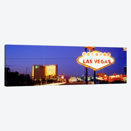 Welcome Sign Las Vegas NV Canvas Print #PIM2910} by Panoramic Images Canvas Art Print