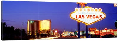 Welcome Sign Las Vegas NV Canvas Art Print