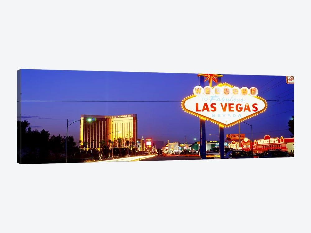 Welcome Sign Las Vegas NV by Panoramic Images 1-piece Canvas Art Print