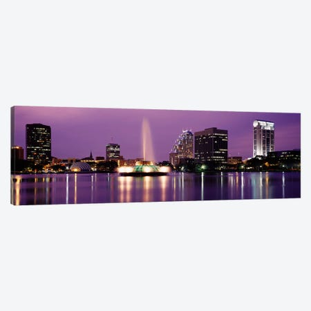 View Of A City Skyline At Night, Orlando, Florida, USA Canvas Print #PIM2912} by Panoramic Images Art Print