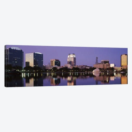 Office Buildings Along The Lake, Lake Eola, Orlando, Florida, USA Canvas Print #PIM2913} by Panoramic Images Canvas Print