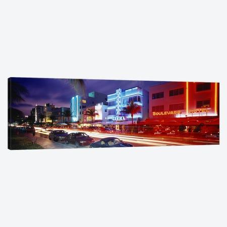 Ocean DriveMiami Beach, Miami, Florida, USA Canvas Print #PIM2917} by Panoramic Images Canvas Artwork