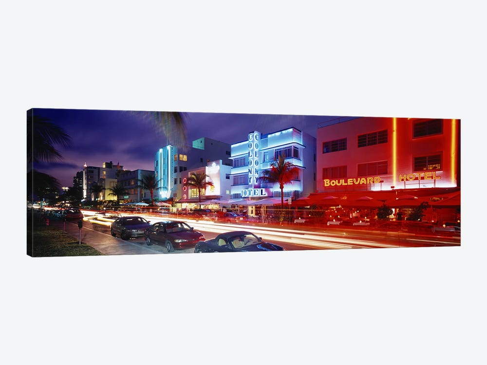 Ocean DriveMiami Beach, Miami, Florida, USA by Panoramic Images 1-piece Canvas Wall Art