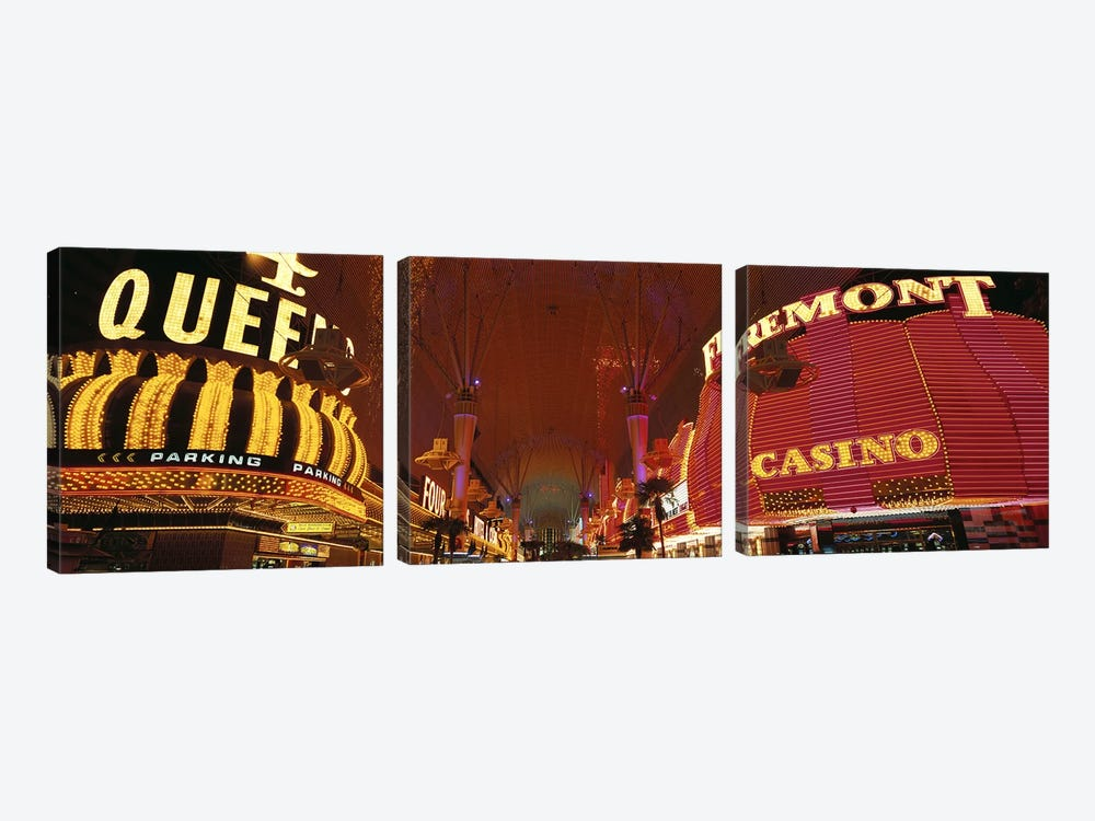 Fremont Street Experience Las Vegas NV USA #4 by Panoramic Images 3-piece Art Print