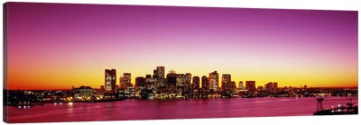 Sunset, Boston, Massachusetts, USA Canvas Art Print