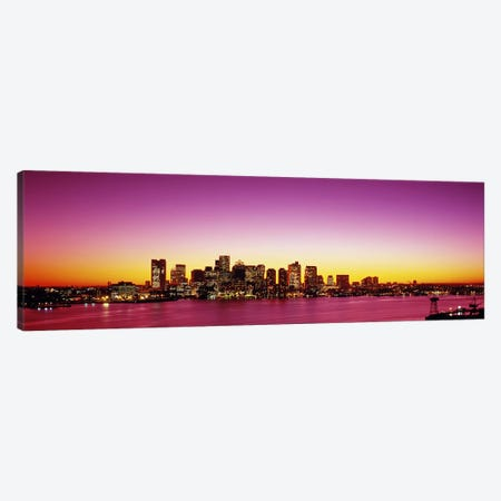 Sunset, Boston, Massachusetts, USA Canvas Print #PIM2920} by Panoramic Images Canvas Wall Art