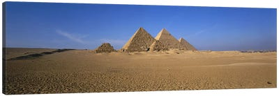The Great Pyramids Giza Egypt Canvas Print #PIM2921
