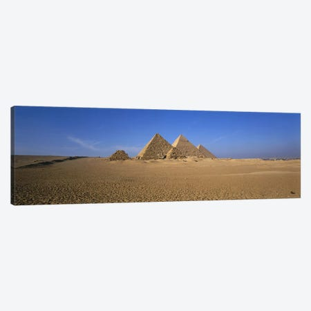 The Great Pyramids Giza Egypt Canvas Print #PIM2921} by Panoramic Images Canvas Artwork