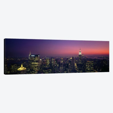 Twilight, Aerial, NYC, New York City, New York State, USA Canvas Print #PIM2922} by Panoramic Images Canvas Art