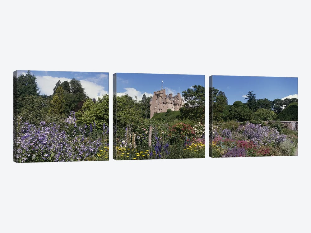 Crathes Castle Scotland by Panoramic Images 3-piece Canvas Art
