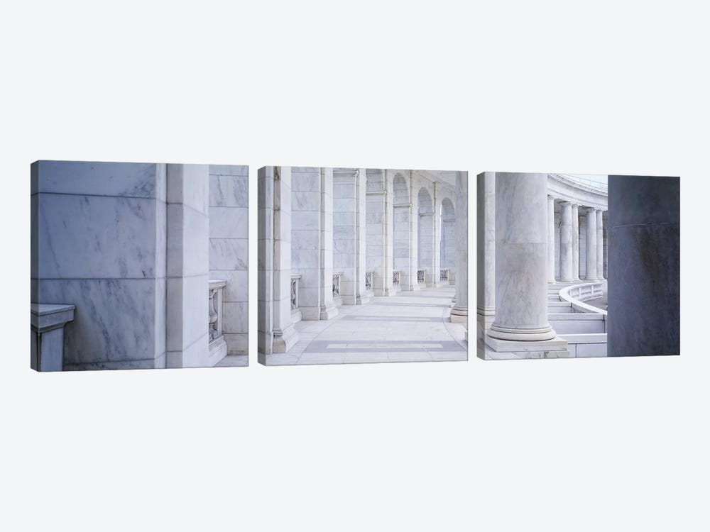 Columns of a government building, Arlington, Arlington County, Virginia, USA by Panoramic Images 3-piece Canvas Artwork