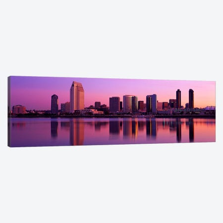 USA, California, San Diego, twiilight Canvas Print #PIM2928} by Panoramic Images Canvas Wall Art