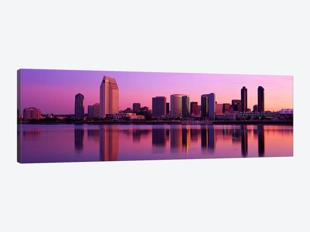 USA, California, San Diego, twiilight by Panoramic Images 1-piece Canvas Art