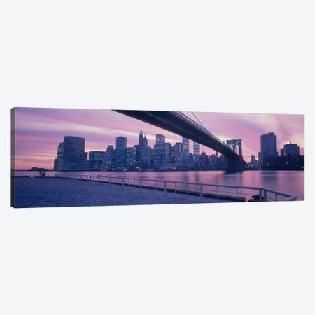Brooklyn Bridge New York NY Canvas Print #PIM2930} by Panoramic Images Canvas Print