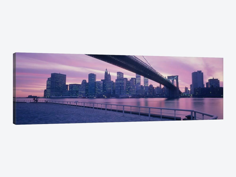 Brooklyn Bridge New York NY by Panoramic Images 1-piece Canvas Print