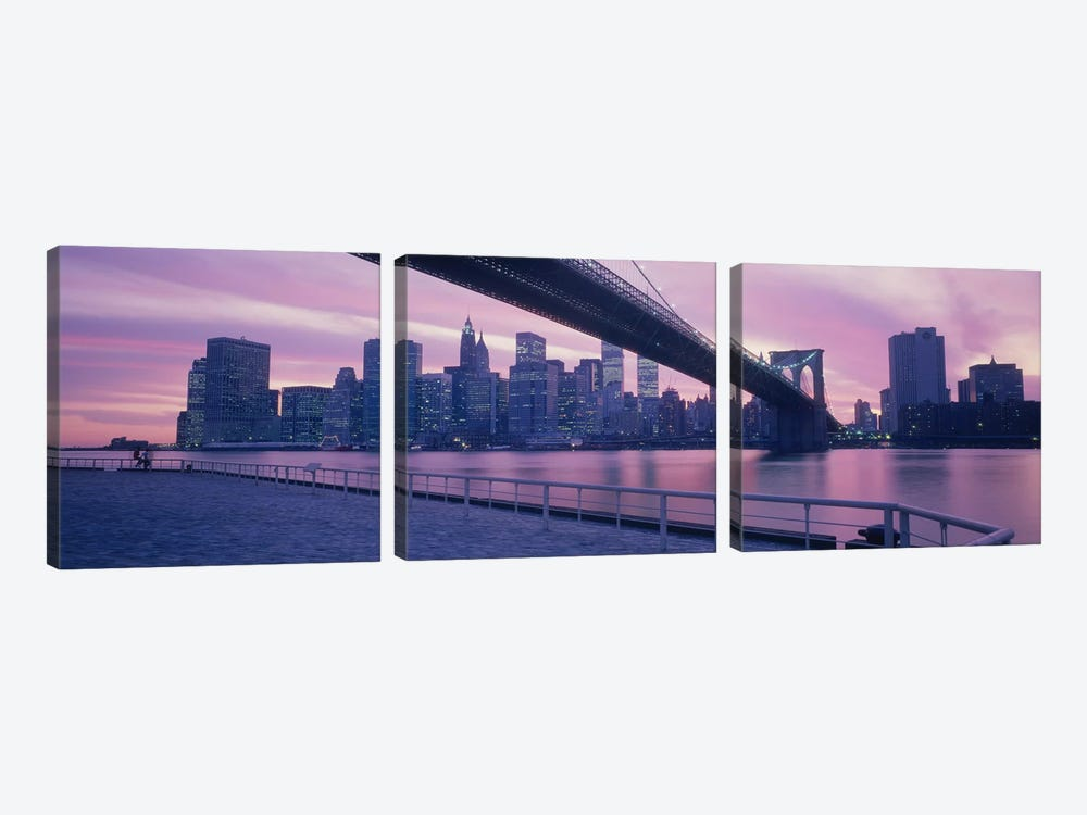 Brooklyn Bridge New York NY by Panoramic Images 3-piece Art Print