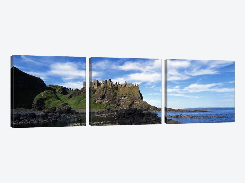 Dunluce Castle, County Antrim, Northern Ireland, United Kingdom by Panoramic Images 3-piece Canvas Artwork
