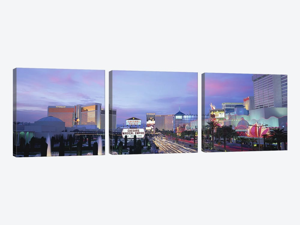 The StripLas Vegas, Nevada, USA by Panoramic Images 3-piece Art Print