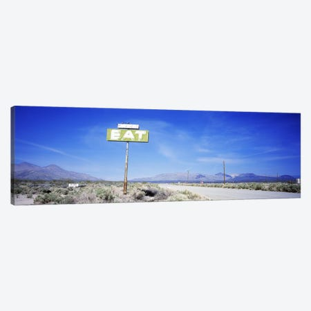 Old Diner Sign, Highway 395, California, USA Canvas Print #PIM2933} by Panoramic Images Canvas Art Print