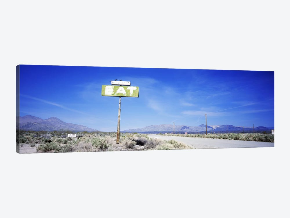 Old Diner Sign, Highway 395, California, USA by Panoramic Images 1-piece Canvas Art