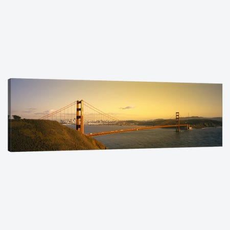 High angle view of a suspension bridge across the seaGolden Gate Bridge, San Francisco, California, USA Canvas Print #PIM2935} by Panoramic Images Canvas Art