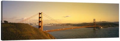 High angle view of a suspension bridge across the seaGolden Gate Bridge, San Francisco, California, USA Canvas Art Print