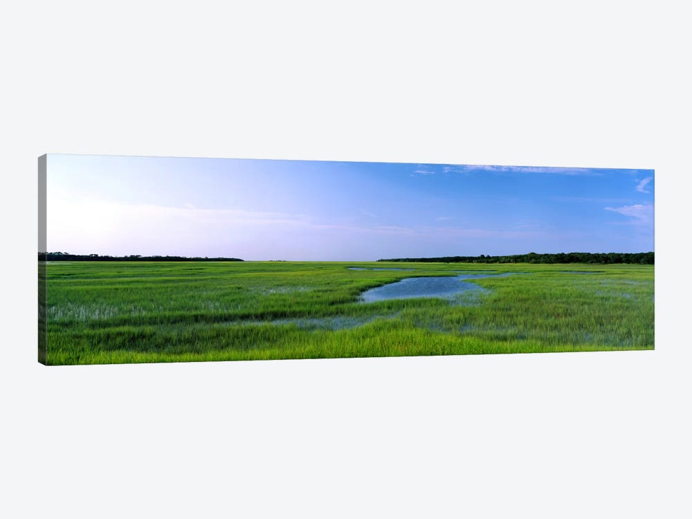 USA, Florida, Jacksonville, Atlantic Coast, Salt Marshes by Panoramic Images 1-piece Canvas Print