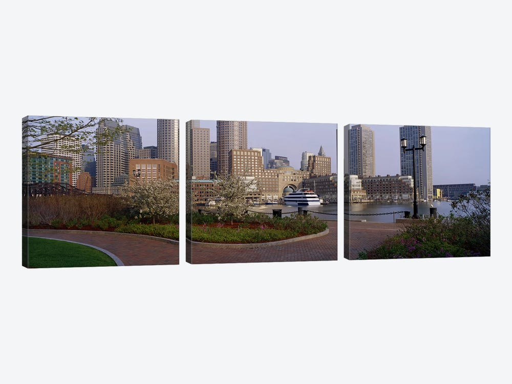 Buildings in a cityBoston, Massachusetts, USA 3-piece Canvas Wall Art