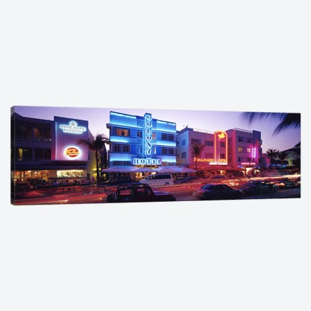 Ocean Drive South Beach Miami FL USA Canvas Print #PIM2945} by Panoramic Images Art Print