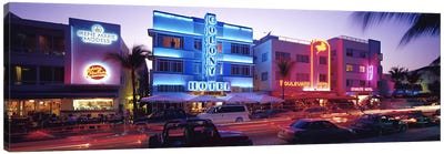 Ocean Drive South Beach Miami FL USA Canvas Print #PIM2945