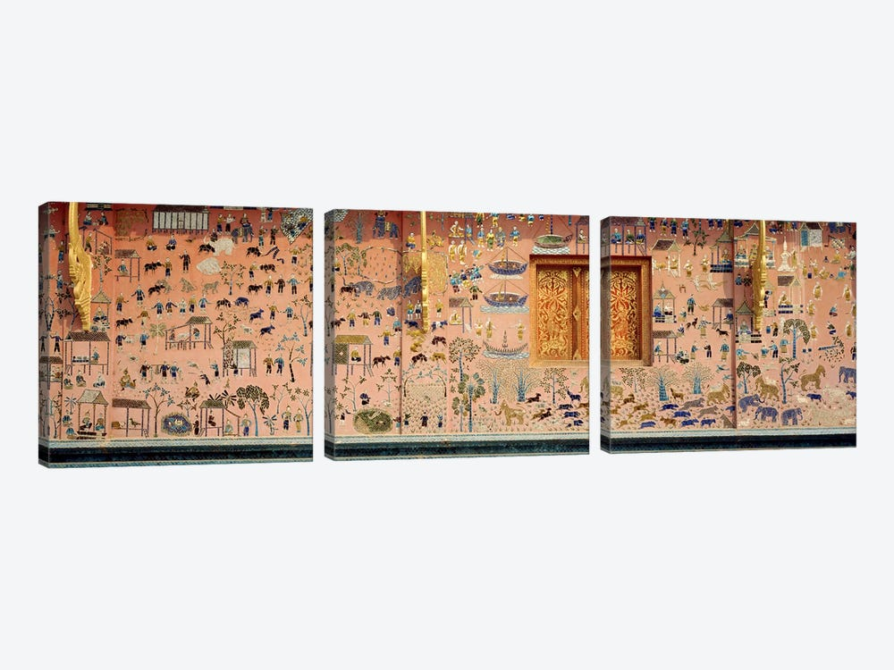 MosaicWat Xien Thong, Luang Prabang, Laos by Panoramic Images 3-piece Canvas Print