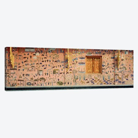 MosaicWat Xien Thong, Luang Prabang, Laos Canvas Print #PIM2947} by Panoramic Images Canvas Art Print