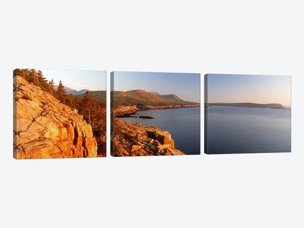 Coastal Landscape, Mount Desert Island, Acadia National Park, Maine, USA by Panoramic Images 3-piece Canvas Art