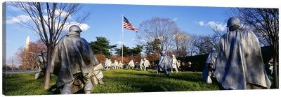 Korean Veterans Memorial Washington DC USA Canvas Print #PIM2952
