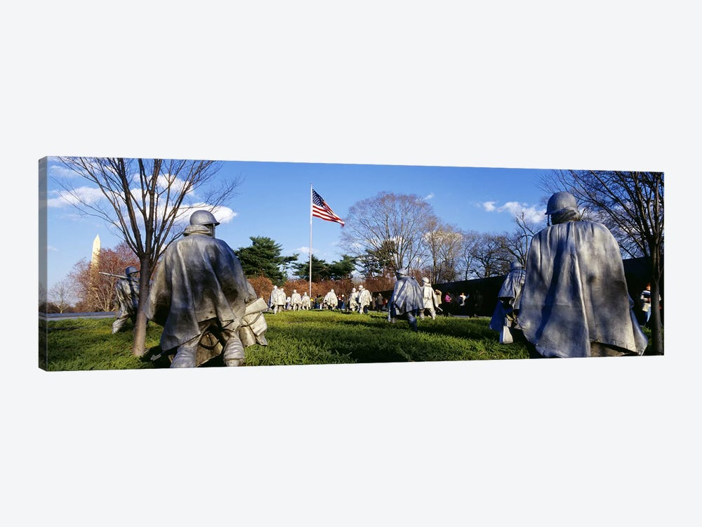 Korean Veterans Memorial Washington DC USA by Panoramic Images 1-piece Art Print