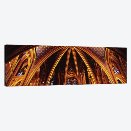 Lower Chapel Ceiling, Sainte Chapelle, Palais de la Cite, Ile de la Cite, Paris, France Canvas Print #PIM2958} by Panoramic Images Canvas Print
