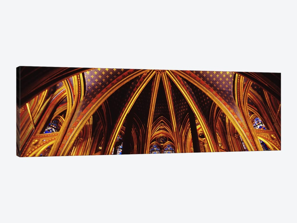 Lower Chapel Ceiling, Sainte Chapelle, Palais de la Cite, Ile de la Cite, Paris, France by Panoramic Images 1-piece Canvas Art Print