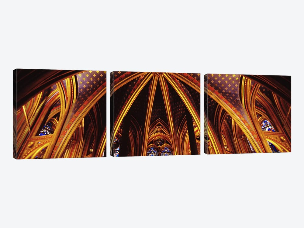 Lower Chapel Ceiling, Sainte Chapelle, Palais de la Cite, Ile de la Cite, Paris, France by Panoramic Images 3-piece Canvas Art Print